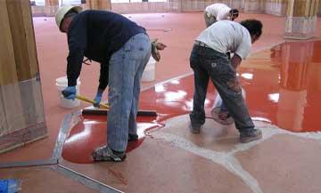 epoxy flooring applied